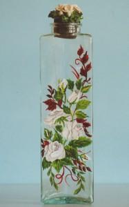 Bottiglia vetro dipinto