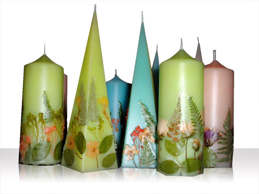 Candele fiori secchi holy hands - Candele fatte in casa ...