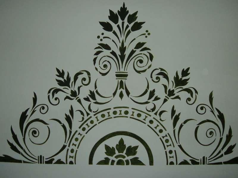 Testata letto dipinta a mano - Testata letto a muro ...